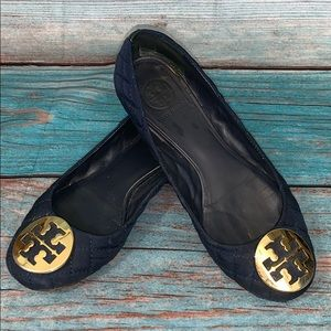 Tory Burch Navy Blue Flats Size 7.5
